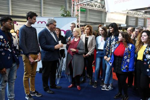 Remerciements de Madame Michèle LUTZ, Maire de Mulhouse et Présidente de Sémaphore (Photo C. KOHLER)