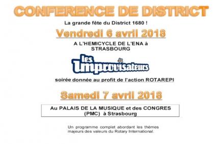 Annonce de la Conférence de District