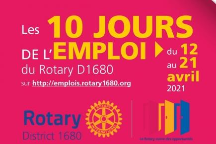 Les 10 jours de l'emploi du Rotary D1680